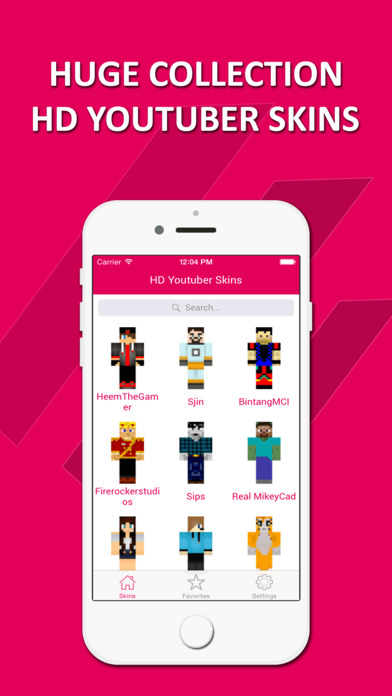 HD Youtuber Skins Lite Best Skins For Minecraft PE - Skins para minecraft youtuber
