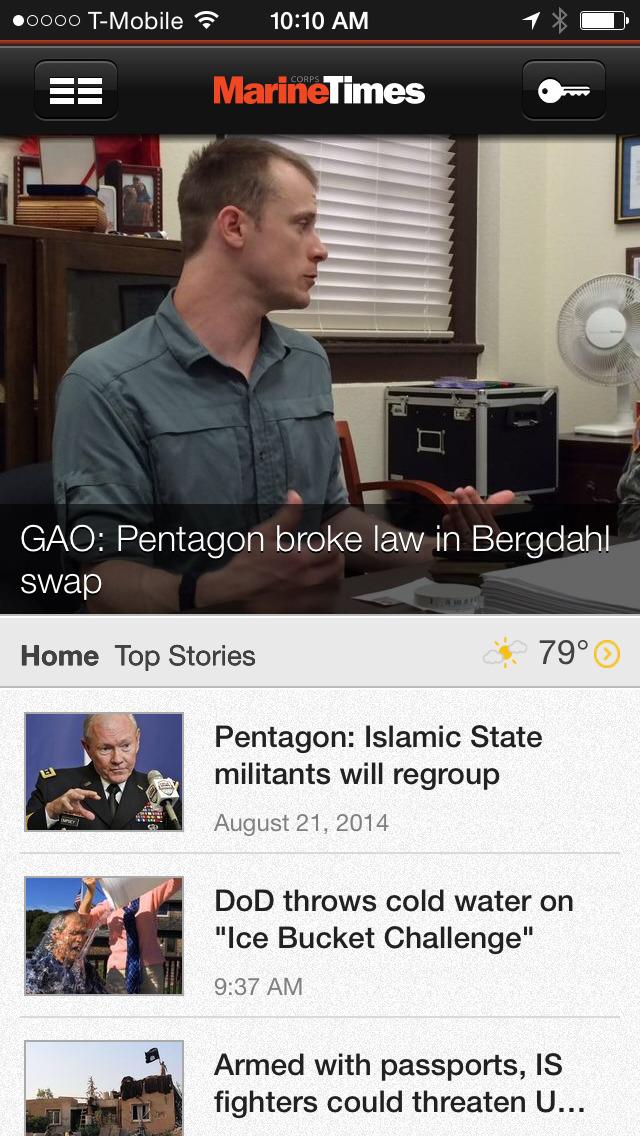 Marine Corps Times Screenshot on iOS