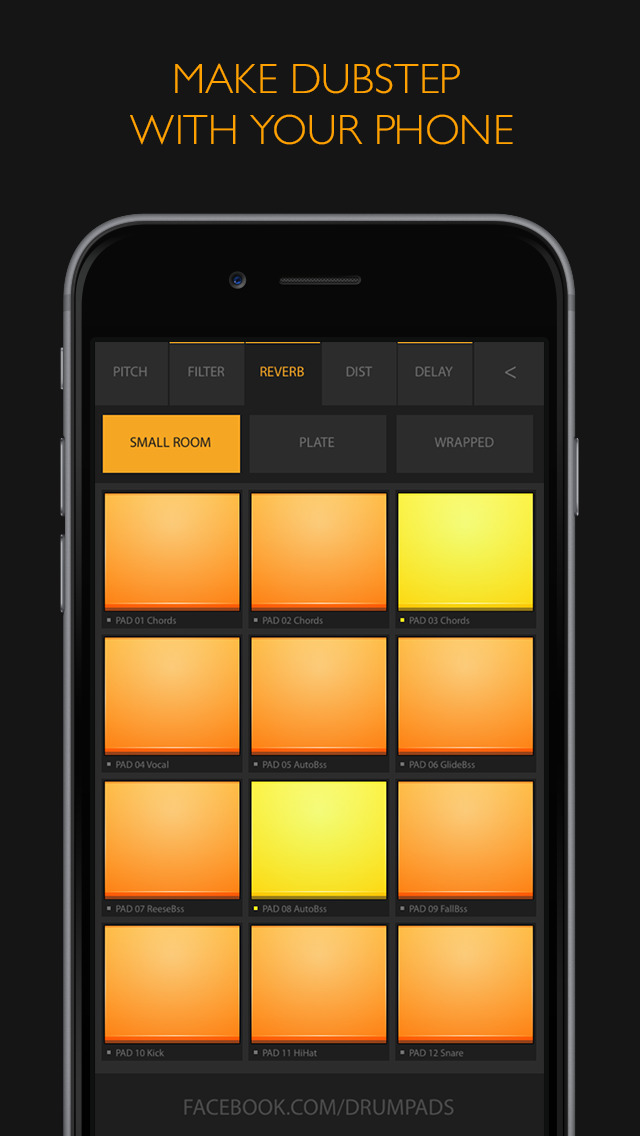 dubstep drum pads 24 make beats and music ios. Black Bedroom Furniture Sets. Home Design Ideas