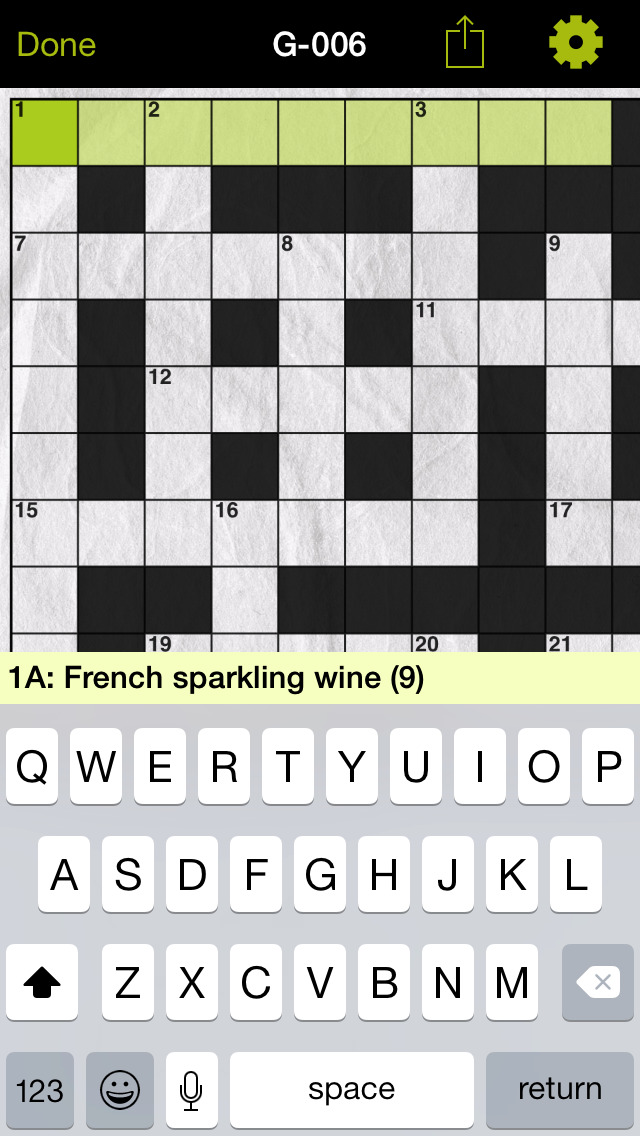 Gourmet Crosswords 1 Screenshot on iOS