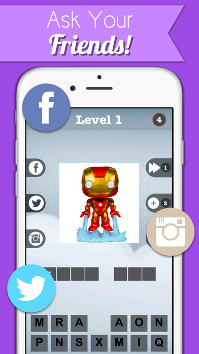 Comic Book Character Pic Quiz - FunkoPop Marvel Characters Edition Screenshot on iOS
