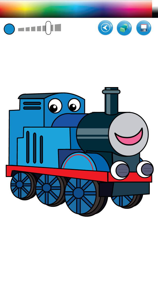 trains and friends coloring game paint thomas version free rh myappwiz com