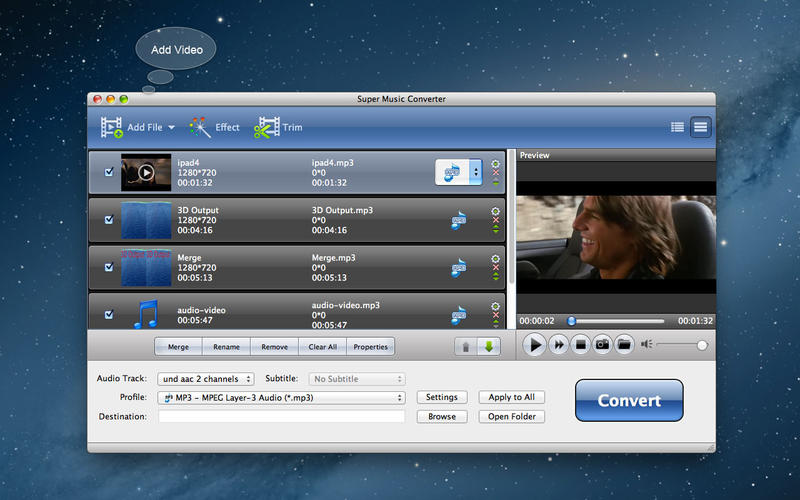 Super Music Converter - Best MP3 Music Converter Screenshot