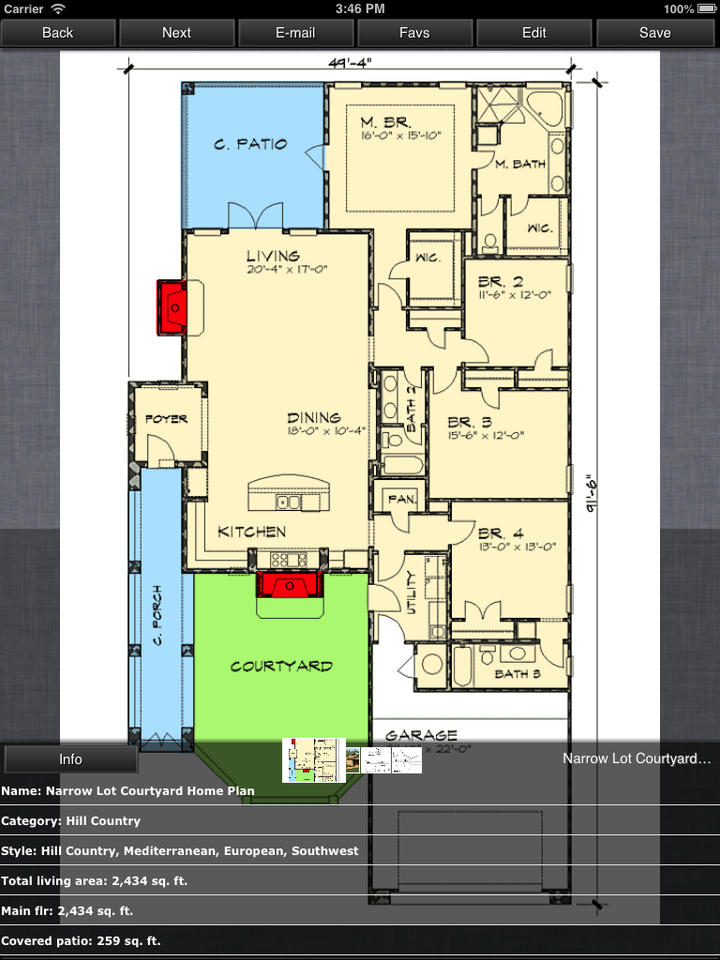 hill country house design family home plans ios store. Black Bedroom Furniture Sets. Home Design Ideas