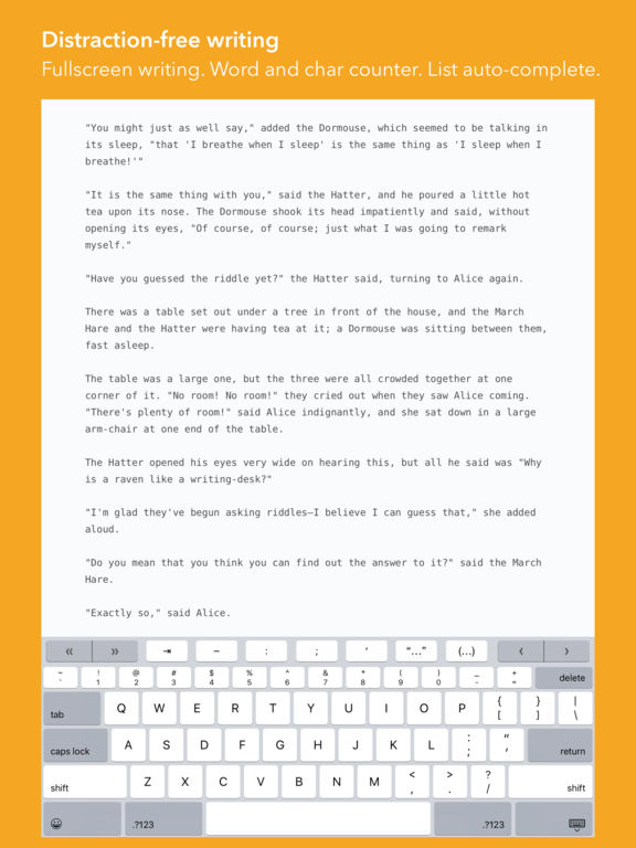 iWriter Screenshot