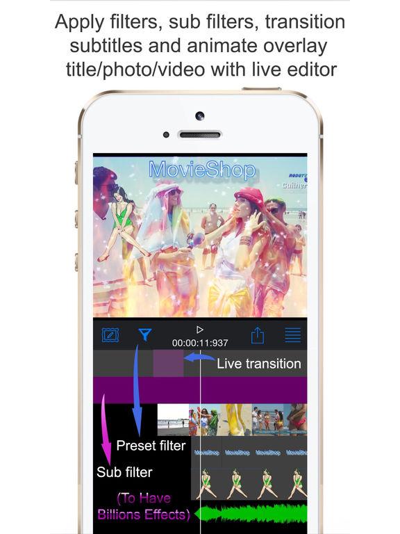 MovieShop - Intro designer maker full video editor IPA
