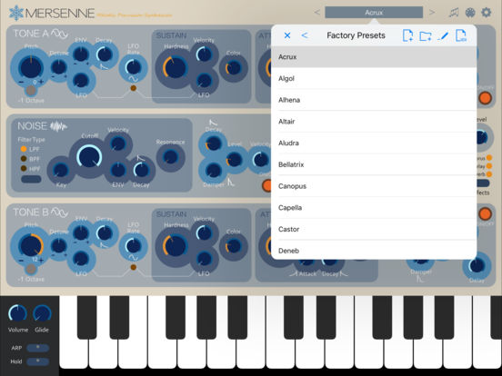 Mersenne Melodic Percussion Synthesizer IPA Cracked for iOS Free
