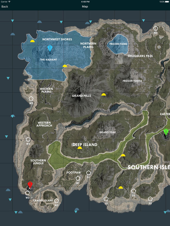 Ark Karte The Island.Top 10 Punto Medio Noticias Ark Ragnarok Resource Map Obsidian