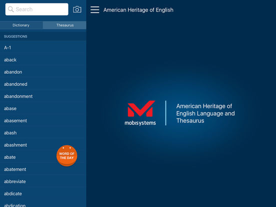 American Heritage English Dictionary Screenshot
