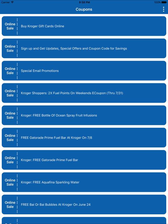 Digital Coupons Clicklist for Kroger Mobile App - appPicker