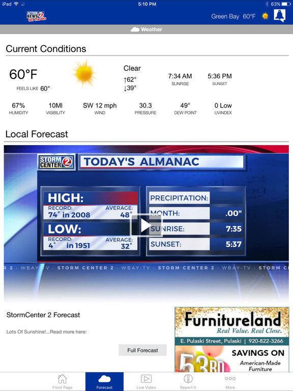 WBAY Action 2 News On the Go iOS Application Version 5 20 1