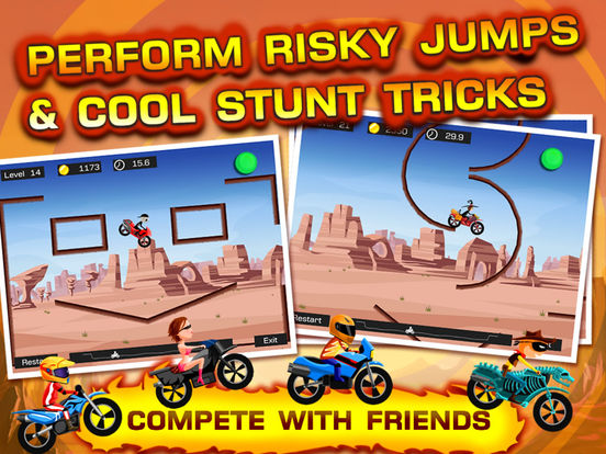 Top Bike -- awesome stunt bike racing game Screenshot