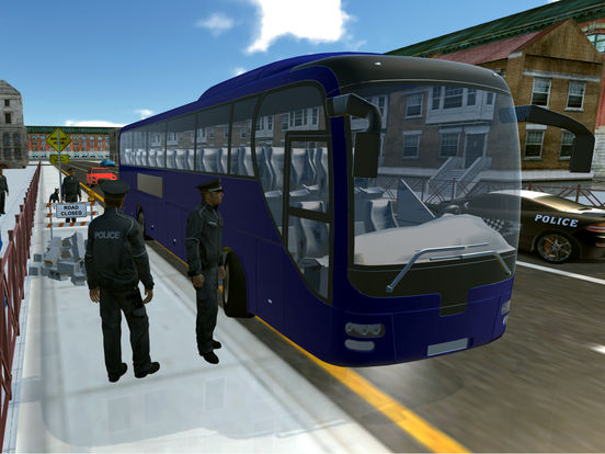 Police Bus City Transporter 3D-ipad-0