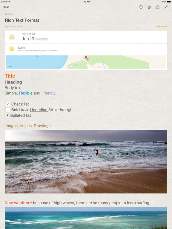 Awesome Note 2 for iPad Screenshots