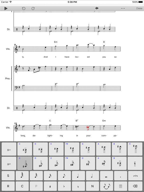 music writing app for ipad