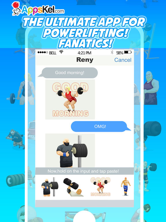 PowerMoji: Weight-Lifting Emoji & Stickers App