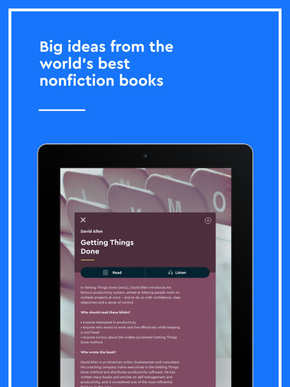 Blinkist - Nonfiction Book Notes in Audio & Text Screenshot