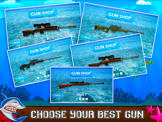 Flying Hungry Shark Endless Shooting Sniper Games-ipad-4